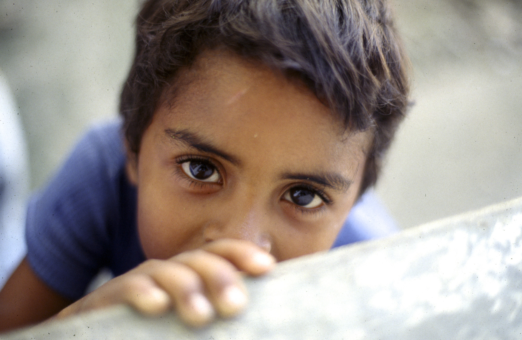 Young boy with big eyes Caracas,Venezula/Steve Mason Photography