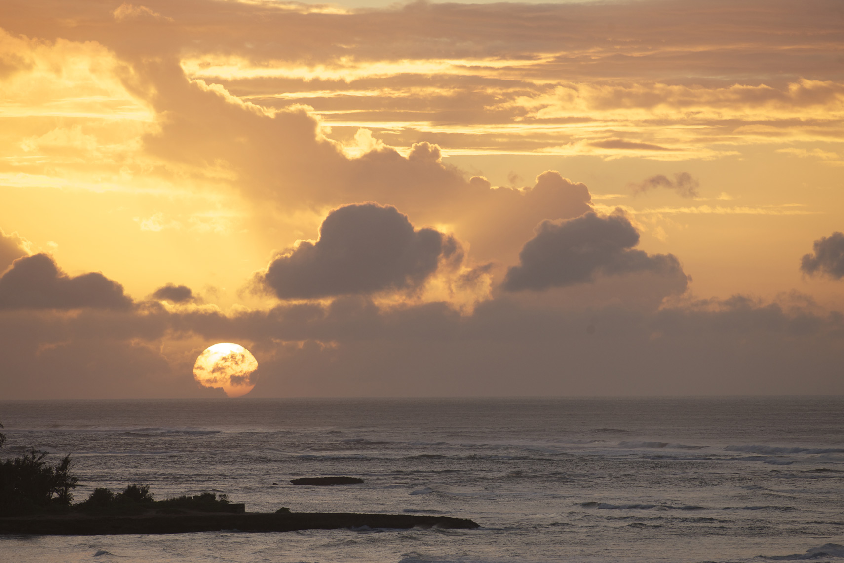 Sunset from room#406 Turtle Bay,HI/Steve Mason Photography