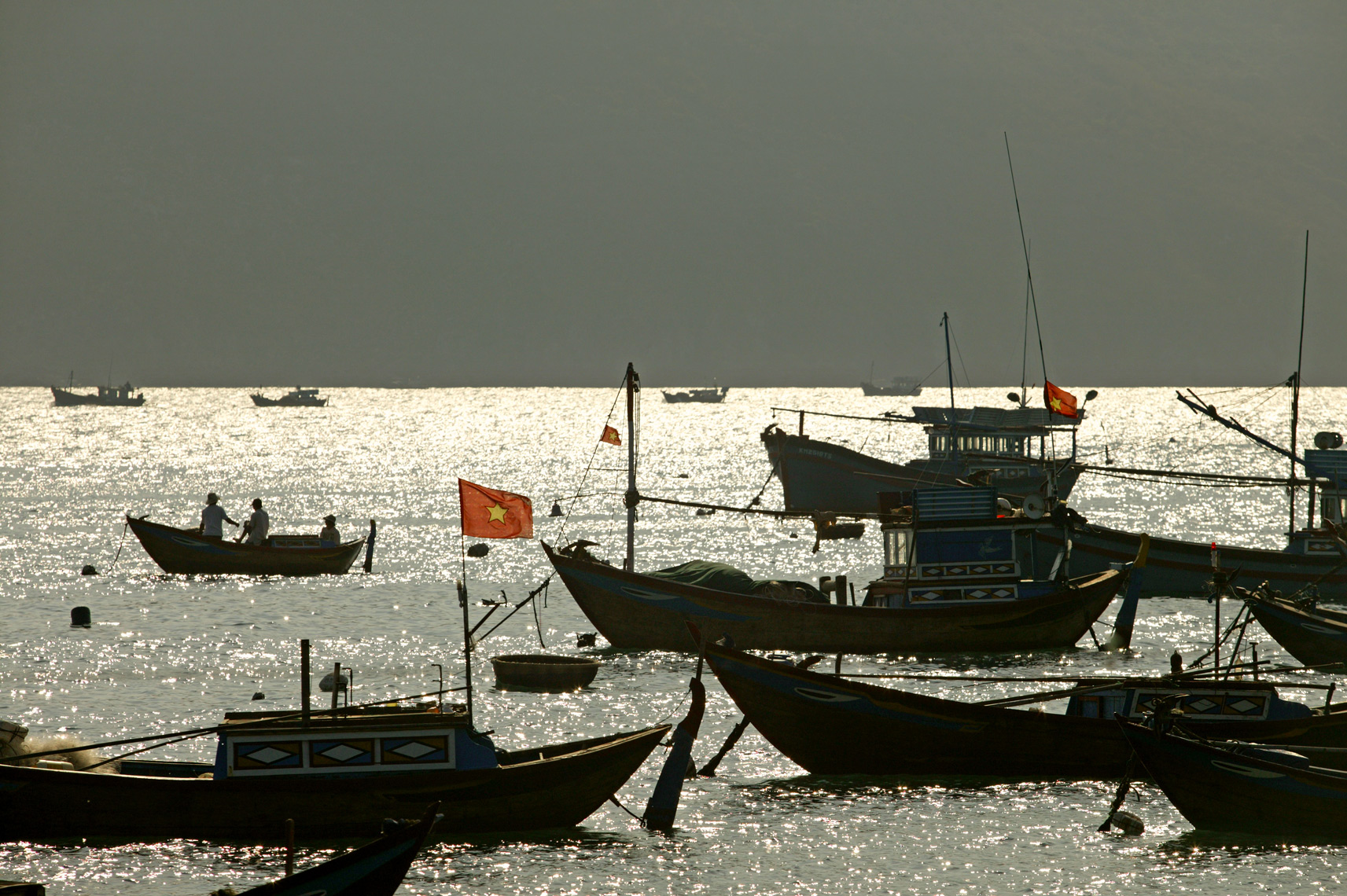 Fishing boats rest in South China Sea/Steve Mason Photography