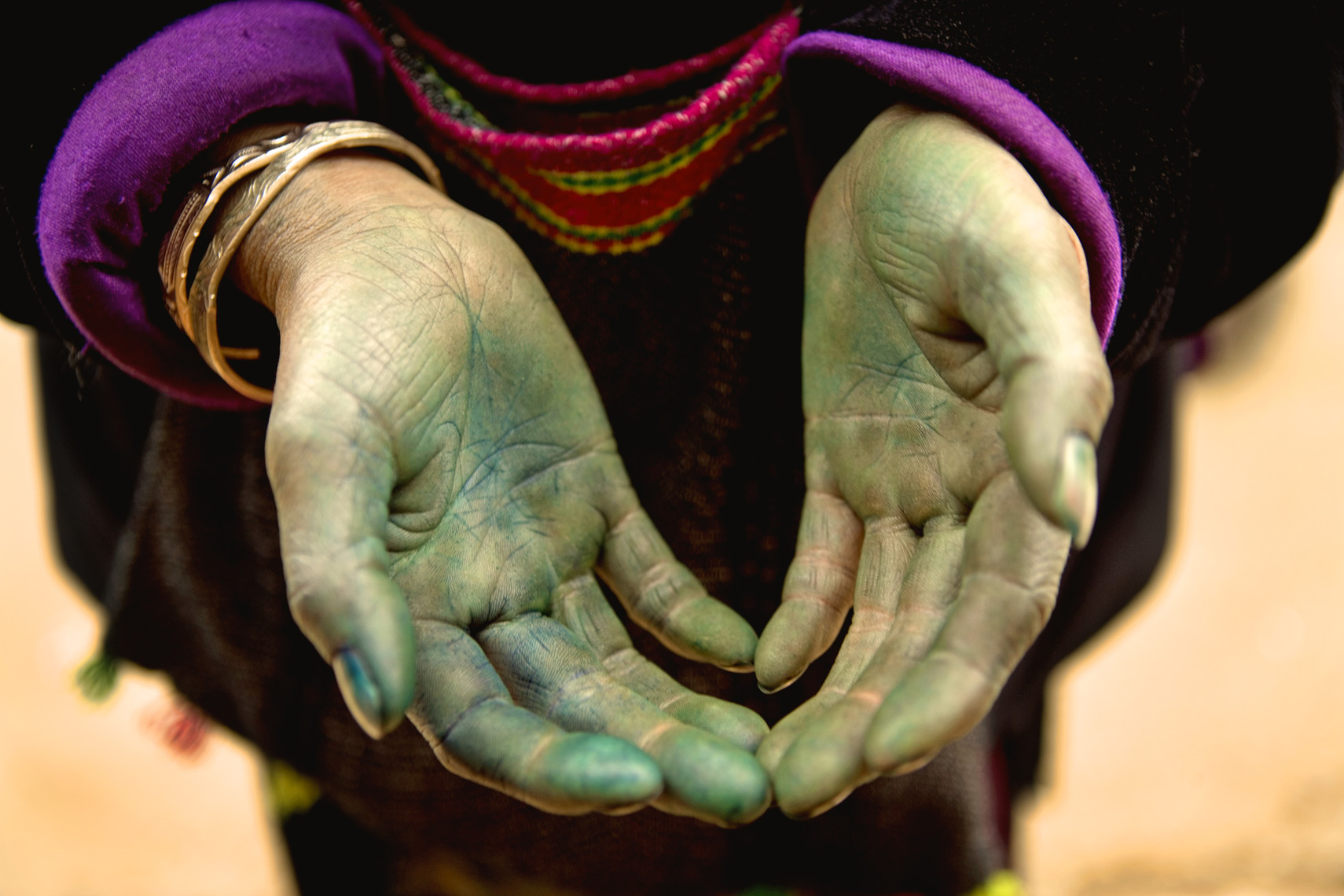 Dye stained hands Sapa, Viet Nam/Steve Mason Photography