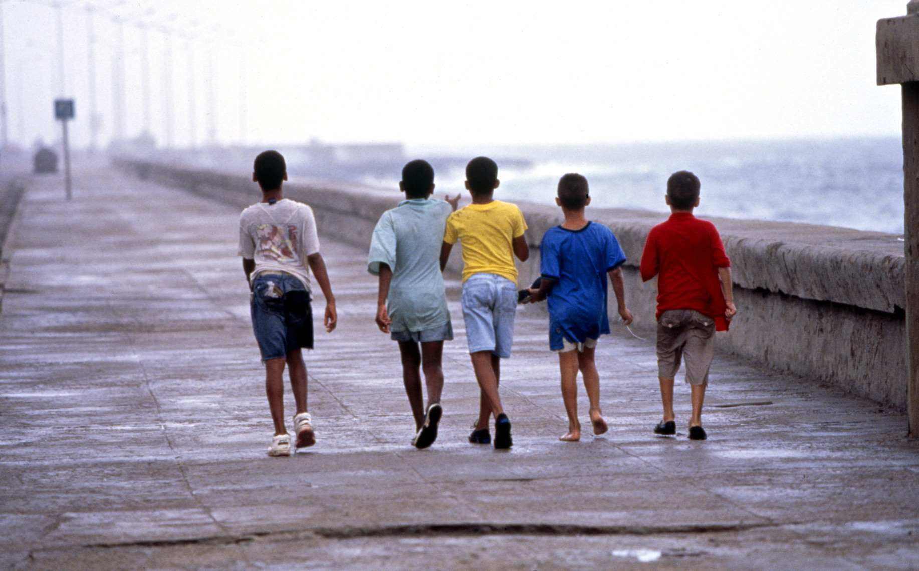 Young boys in colored shirts Cuba/Steve Mason Photography
