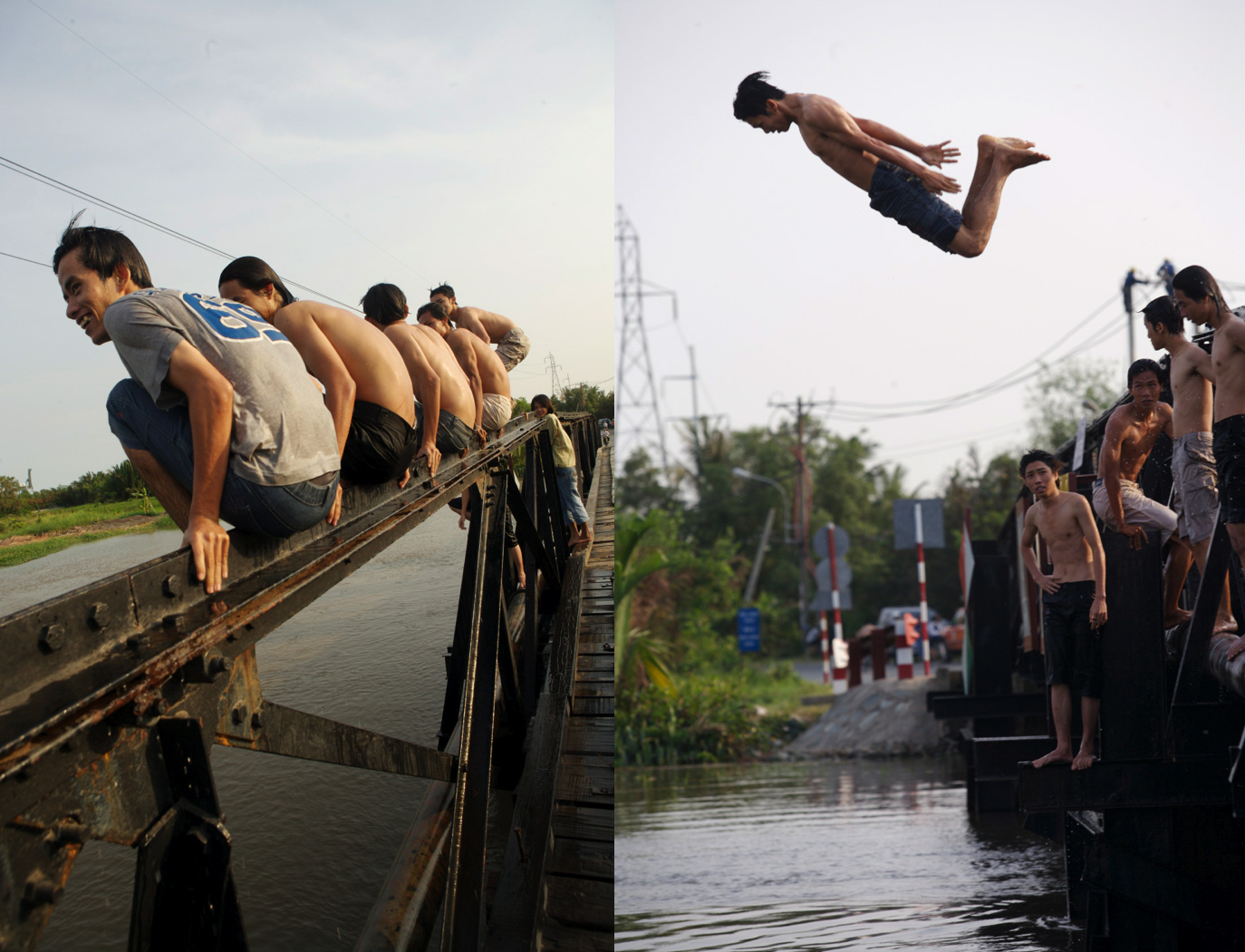 Afternoon Swim in Saigon River/Steve Mason Photography